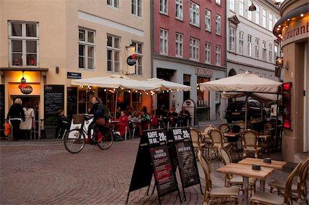 street cafe day - City cafe at dusk, Copenhagen, Denmark, Scandinavia, Europe Stock Photo - Rights-Managed, Code: 841-05848102