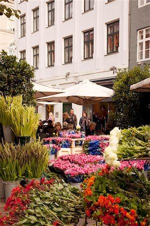 Flower shop on Ostergade, Copenhagen, Denmark, Scandinavia, Europe Stock Photo - Rights-Managed, Code: 841-05848118