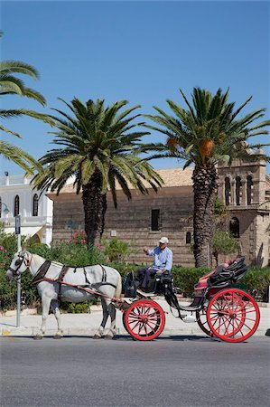 Horse and carriage and St. Nicholas Church, Zakynthos Town, Zakynthos, Ionian Islands, Greek Islands, Greece, Europe Stock Photo - Rights-Managed, Code: 841-05848265