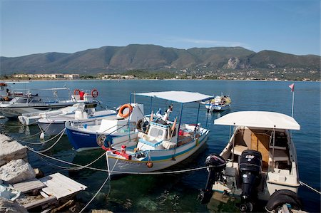 Fishing boats in the harbour, Alykanas, Zakynthos, Ionian Islands, Greek Islands, Greece, Europe Stock Photo - Rights-Managed, Code: 841-05848285