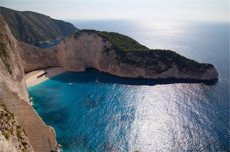 Shipwreck Bay, Zakynthos, Ionian Islands, Greek Islands, Greece, Europe Stock Photo - Rights-Managed, Code: 841-05848289