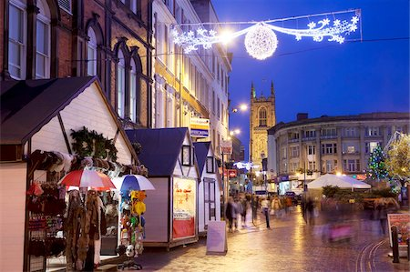 places - Christmas Market and Cathedral, Derby, Derbyshire, England, United Kingdom, Europe Stock Photo - Rights-Managed, Code: 841-05848314