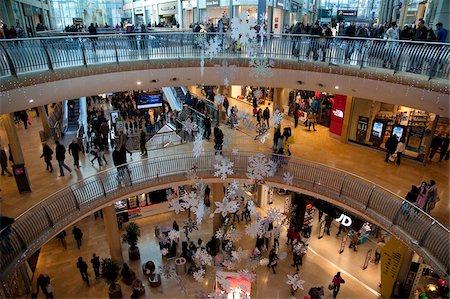 Christmas, Bullring Shopping Centre, City Centre, Birmingham, West Midlands, England, United Kingdom, Europe Stock Photo - Rights-Managed, Code: 841-05848322