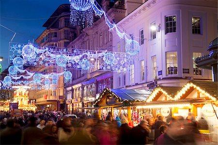 New Street and Christmas Market, City Centre, Birmingham, West Midlands, England, United Kingdom, Europe Stock Photo - Rights-Managed, Code: 841-05848334
