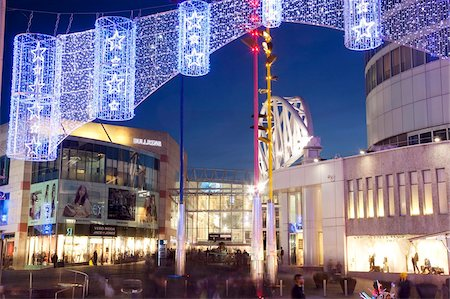 Bullring Shopping Centre at Christmas, City Centre, Birmingham, West Midlands, England, United Kingdom, Europe Stock Photo - Rights-Managed, Code: 841-05848337