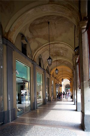Arcade and shops, Bologna, Emilia-Romagna, Italy, Europe Stock Photo - Rights-Managed, Code: 841-05848419