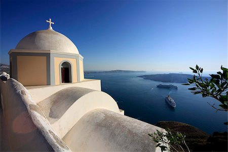 Fira, Santorini, Cyclades Islands, Greek Islands, Greece, Europe Stock Photo - Rights-Managed, Code: 841-05960034