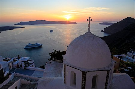 Fira, Santorini, Cyclades Islands, Greek Islands, Greece, Europe Stock Photo - Rights-Managed, Code: 841-05960037