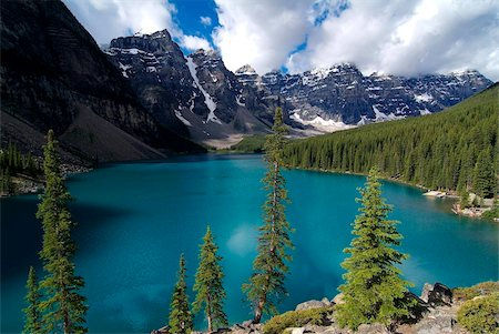 Moraine Lake, Valley of the Ten Peaks, Banff National Park, UNESCO World Heritage Site, Alberta, Rocky Mountains, Canada, North America Stock Photo - Rights-Managed, Code: 841-05960409