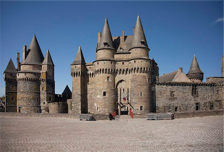 Vitre Castle, Vitre, Brittany, France, Europe Stock Photo - Rights-Managed, Code: 841-05960480
