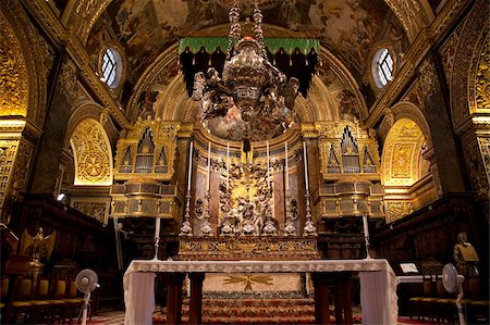 High Altar, St. John's CoCathedral, Valletta, Malta, Europe Stock Photo - Rights-Managed, Code: 841-05960504