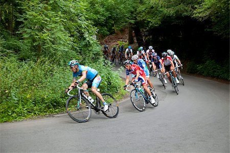 Cyclists on The Zig Zag, London Surrey Classic cycle race, Box Hill, site of 2012 Olympics cycling road race, Surrey Hills, Surrey, England, United Kingdom, Europe Stock Photo - Rights-Managed, Code: 841-05960545
