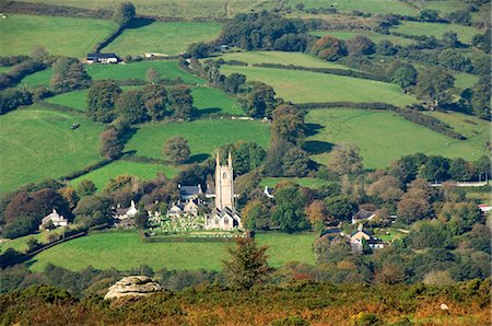 dartmoor national park - The village of Widecombe in the Moor, Dartmoor National Park, Devon, England, United Kingdom, Europe Stock Photo - Rights-Managed, Code: 841-05960798