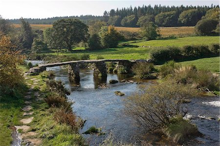 dartmoor national park - The Clapper Bridge at Postbridge, Dartmoor National Park, Devon, England, United Kingdom, Europe Stock Photo - Rights-Managed, Code: 841-05960800