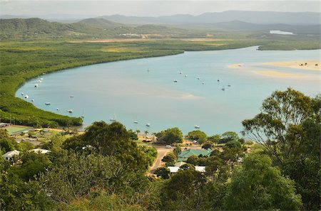 queensland - View of Cooktown and Endeavour River, Queensland, Australia, Pacific Stock Photo - Rights-Managed, Code: 841-05960834