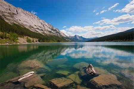 Medicine Lake, Jasper National Park, UNESCO World Heritage Site, British Columbia, Rocky Mountains, Canada, North America Stock Photo - Rights-Managed, Code: 841-05961758