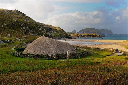 Bosta Iron Age House, Great Bernera Iron Age Village, Isle of Lewis, Western Isles, Scotland, United Kingdom, Europe Stock Photo - Rights-Managed, Code: 841-05961882