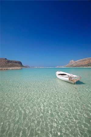Balos Bay and Gramvousa, Chania, Crete, Greek Islands, Greece, Europe Stock Photo - Rights-Managed, Code: 841-05961955