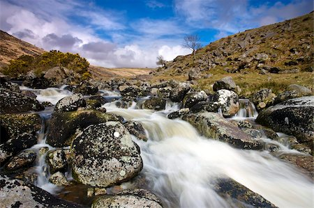 dartmoor national park - Rocky stream at Tavy Cleave, Dartmoor, Devon, England, United Kingdom, Europe Stock Photo - Rights-Managed, Code: 841-05962537