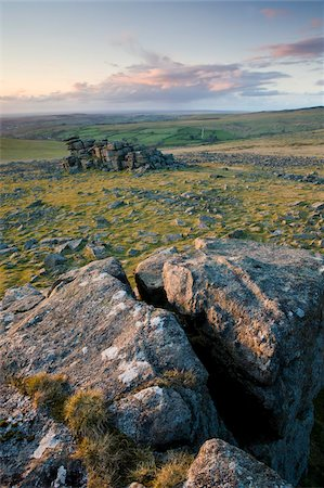 dartmoor national park - Great Staple Tor, Dartmoor, Devon, England, United Kingdom, Europe Stock Photo - Rights-Managed, Code: 841-05962539