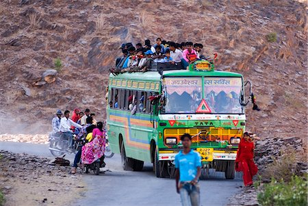 Public bus, Rajasthan, India, Asia Stock Photo - Rights-Managed, Code: 841-06034026