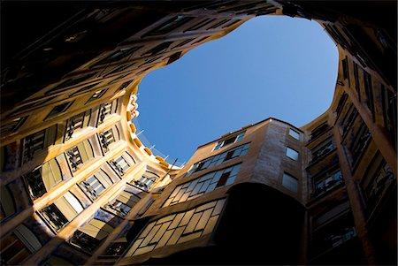 Casa Mila, UNESCO World Heritage Site, Barcelona, Catalonia, Spain, Europe Stock Photo - Rights-Managed, Code: 841-06034095