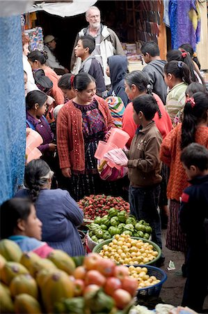food stalls - Market, Chichicastenango, Western Highlands, Guatemala, Central America Stock Photo - Rights-Managed, Code: 841-06034217