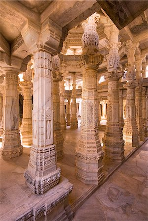 decorative - Chaumukha Temple, Ranakpur, Rajasthan, India, Asia Stock Photo - Rights-Managed, Code: 841-06034262