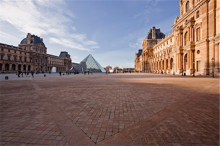 places - The Pyramid at the Louvre Museum, Paris, France, Europe Stock Photo - Rights-Managed, Code: 841-06034318