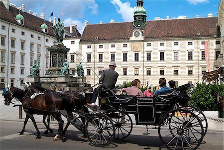 Horse-drawn carriage at the Hofburg, Vienna, Austria, Europe Stock Photo - Rights-Managed, Code: 841-06030478