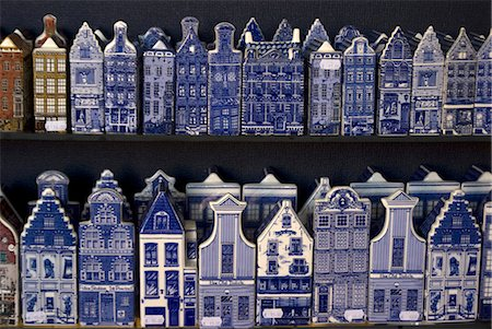 Delft pottery figures of traditional houses, Delft, Netherlands, Europe Stock Photo - Rights-Managed, Code: 841-06030733