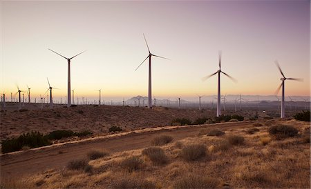 Wind turbines just outside Mojave, California, United States of America, North America Stock Photo - Rights-Managed, Code: 841-06030783