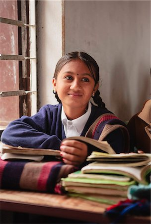 School girl in lessons, Butwal, Nepal, Asia Stock Photo - Rights-Managed, Code: 841-06030823
