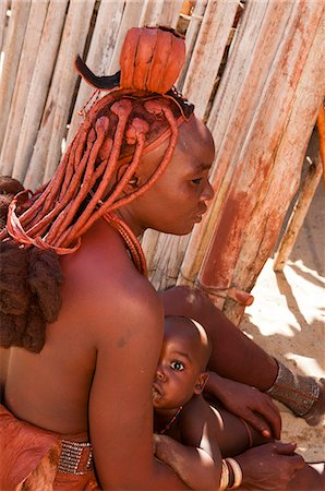 shy baby - Himba woman and baby, Skeleton Coast National Park, Namibia, Africa Stock Photo - Rights-Managed, Code: 841-06030889