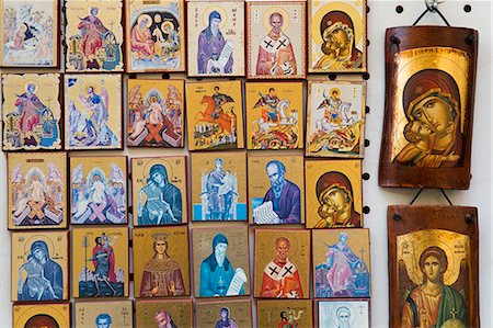 Orthodox icons for sale in the Plaka District, Athens, Greece, Europe Stock Photo - Rights-Managed, Code: 841-06031057