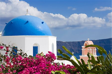 Greek Orthodox Church in Oia village, Santorini Island, Cyclades, Greek Islands, Greece, Europe Stock Photo - Rights-Managed, Code: 841-06031107