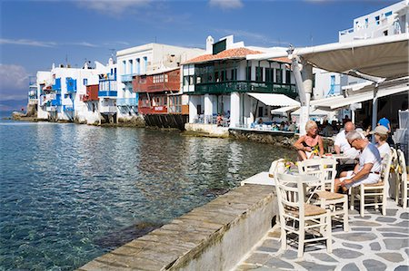 Little Venice in Mykonos Town, Island of Mykonos, Cyclades, Greek Islands, Greece, Europe Stock Photo - Rights-Managed, Code: 841-06031118