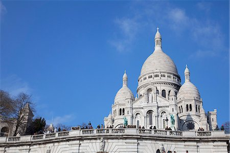 Sacre Coeur Basilica, Montmartre, Paris, France, Europe Stock Photo - Rights-Managed, Code: 841-06031225