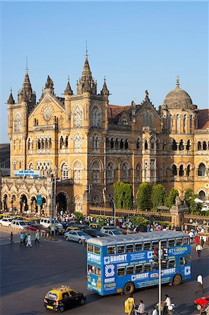 Chhatrapati Shivaji Terminus (Victoria Terminus), UNESCO World Heritage Site, Mumbai, Maharashtra State, India, Asia Stock Photo - Rights-Managed, Code: 841-06031292
