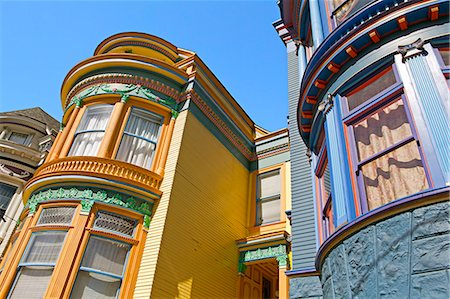 Colourfully painted Victorian houses in the Haight-Ashbury district of San Francisco, California, United States of America, North America Stock Photo - Rights-Managed, Code: 841-06031337