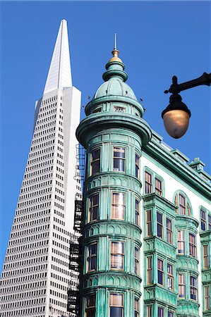 Trans America Building and Victorian architecture, San Francisco, California, United States of America, North America Stock Photo - Rights-Managed, Code: 841-06031340