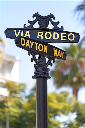 Rodeo Drive, Beverly Hills, Los Angeles, California, United States of America, North America Stock Photo - Rights-Managed, Code: 841-06031378