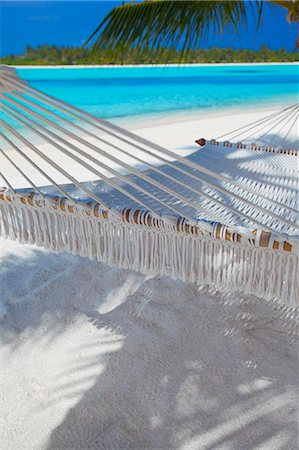 Hammock on tropical beach, Maldives, Indian Ocean, Asia Stock Photo - Rights-Managed, Code: 841-06031400