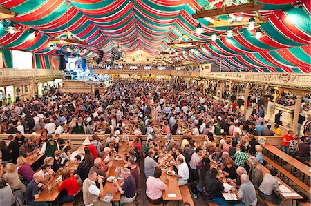 Beer hall at the Stuttgart Beer Festival, Cannstatter Wasen, Stuttgart, Baden-Wurttemberg, Germany, Europe Stock Photo - Rights-Managed, Code: 841-06031422