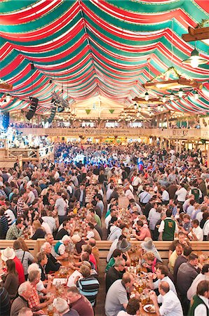 Beer hall at the Stuttgart Beer Festival, Cannstatter Wasen, Stuttgart, Baden-Wurttemberg, Germany, Europe Stock Photo - Rights-Managed, Code: 841-06031423