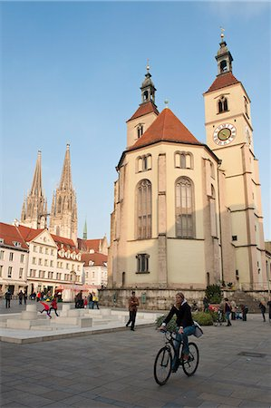 square - The Neupfarrkirche Protestant Church, Regensburg, Bavaria, Germany, Europe Stock Photo - Rights-Managed, Code: 841-06031469