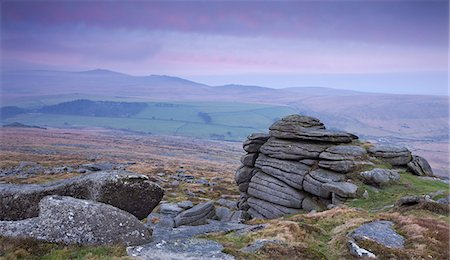 dartmoor national park - View towards High Willhays from Belstone Tor, Dartmoor, Devon, England, United Kingdom, Europe Stock Photo - Rights-Managed, Code: 841-06031596