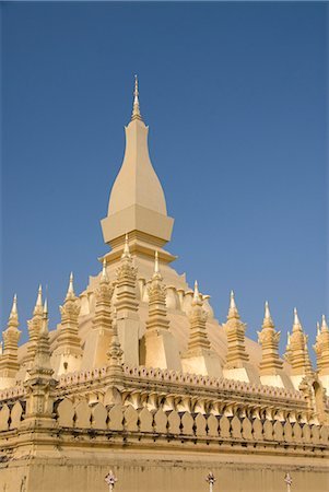 Pha That Luang, Vientiane, Laos, Indochina, Southeast Asia, Asia Stock Photo - Rights-Managed, Code: 841-06031709