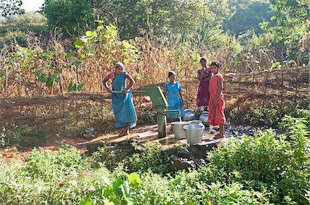 Village water pump, rural Orissa (Odisha), India, Asia Stock Photo - Rights-Managed, Code: 841-06031746
