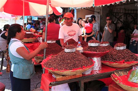 Vendor selling chapulines (fried grasshoppers), Oaxaca City, Oaxaca, Mexico, North America Stock Photo - Rights-Managed, Code: 841-06031784